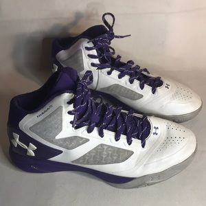Purple under Armour basketball shoes size 11